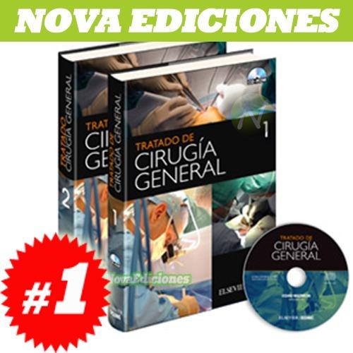 tratado de cirugía general  2 vol. + 1 cd nuevo y original
