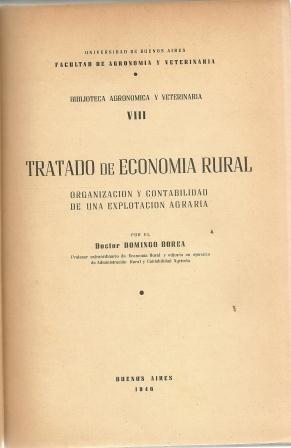 tratado de economia rural  viii domingo borea arg.1918