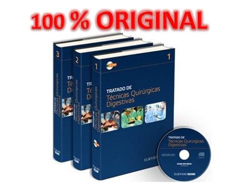 tratado de tecnicas quirurgicas digestivas 3 vol + cd oceano