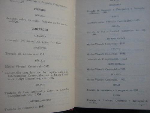 tratado internacionales bilaterales vigentes 1934