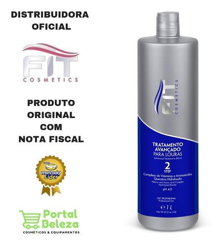 tratamento avançado progressiva loiras 1l - fit cosmetics