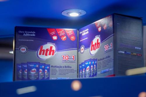 tratamento para piscinas refil cloro hth 1kg caixa c/ 5 unid