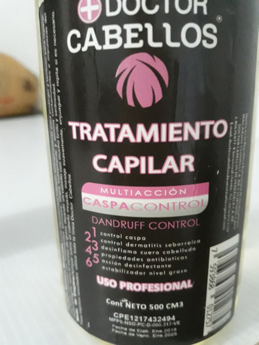 tratamiento capilar anti-caspa 500cm3