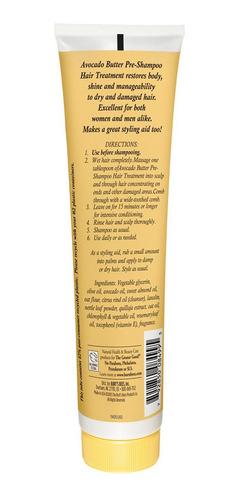 tratamiento capilar burts bees manteca de aguacate 123gr