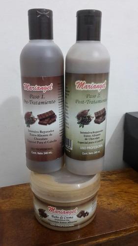 tratamiento capilar chocolate marca mariangel