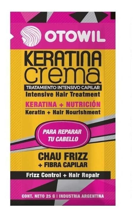 Tratamiento Capilar Otowil Keratina Crema Frizz X 24 Sobres 963 00 En Mercado Libre