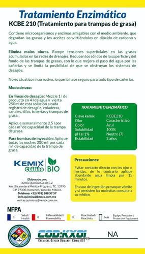 tratamiento enzimático digestor de grasas ecológico 5lt