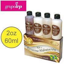 Kit Keratina De Chocolate 2oz, 4 Pasos, Alisante De Brasil