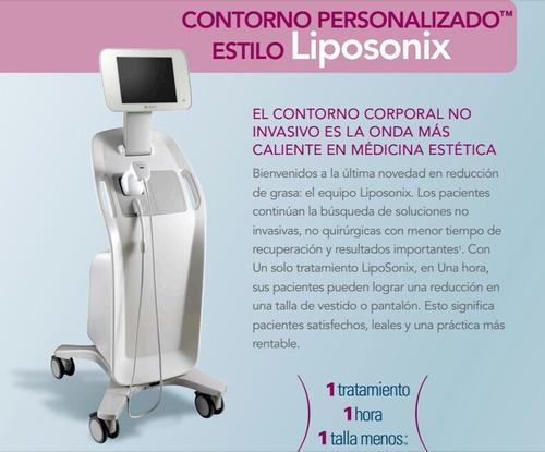 tratamientos reductivo con aparatologia. liposonix.