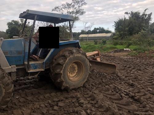 trator agrícola valmet 985 4x4 , com lâmina e pá