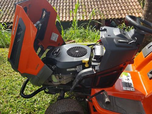 trator cortador grama husqvarna 26 hp  lgt2654 c/ carretinha