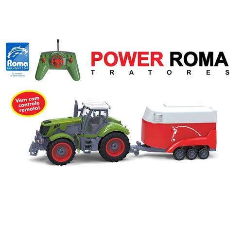 trator de controle remoto power roma haras 1765 - roma br...