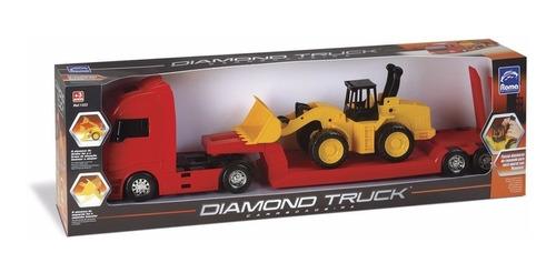 trator e caminhão prancha rampa bitrem retroescavadeira 62cm