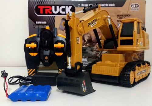 trator escavadeira r/c 8 ch mod 6811l + pilhas