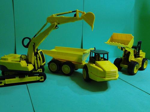 trator kit lote escavadeira carregadeira basculante brinca