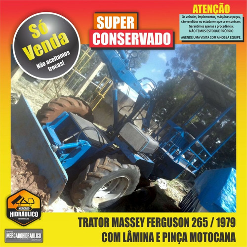 trator massey ferguson 265 / 1979