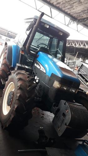 trator new holland tm150 revisado cabinado pneus bom estado