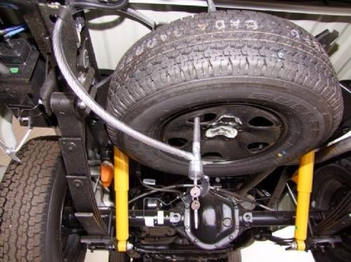 trava anti furto estepe caminhonete caminhão carro moto