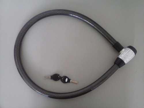 trava cabo de aço antifurto 25x1,20mt estepe, moto, bic.etc