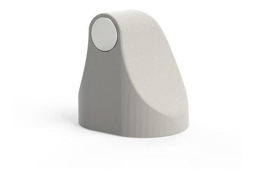 trava de porta magnético cor branco comfort door com imã e adesivo evita batida protetor de maçaneta e parede