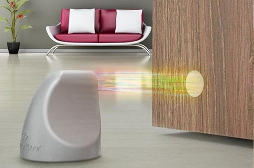 trava de porta magnético cor preto comfort door com imã e adesivo protetor de maçaneta e parede evita batida