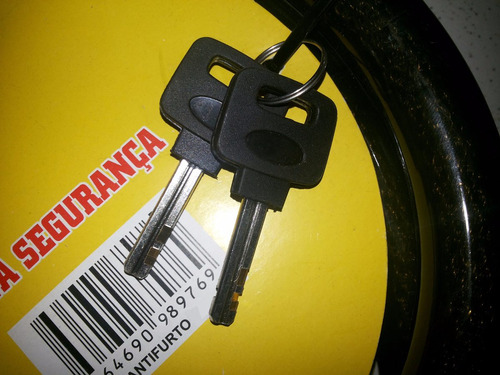 trava de segurança para estepe com cabo de aço e 2 chaves