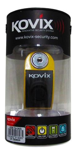 trava disco c/ alarme freio kovix cadeado antifurto kd6 full