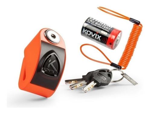 trava disco moto com alarme kovix kd6 + lembrete