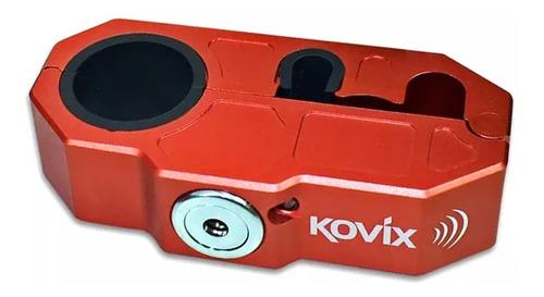 trava manete moto acelerador ou freio com alarme kovix khl