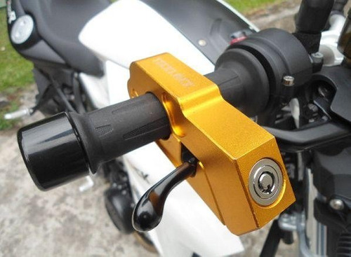 trava manete moto anti furto p/guidão -tecklock apenas preta