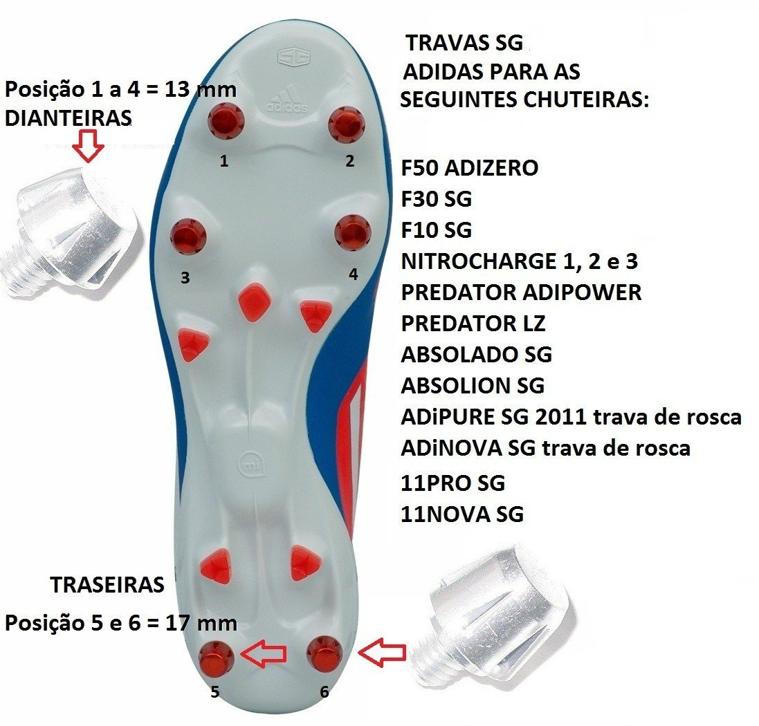 Trava Para Chuteiras 11pro F50 Adizero Mostruário 1magnus - R  21 898ef53ff4133