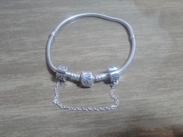 Trava Pega Ladrão Pulseira Pandora Prata Maciça 925 - R