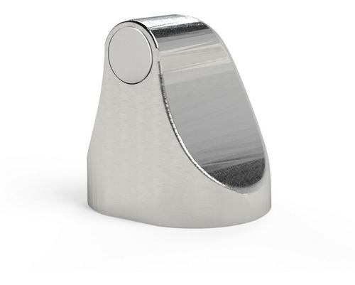 trava porta magnético comfort door cor cromado com imã e adesivo evita batida protege maçaneta parede