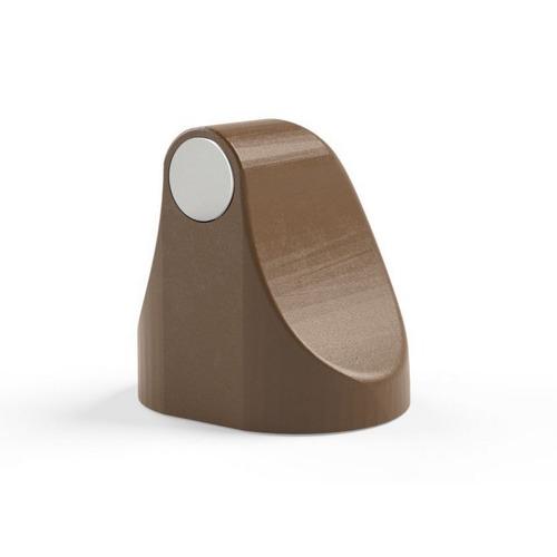 trava porta magnético comfort door cor marrom claro com imã e adesivo evita batida protetor maçaneta e parede