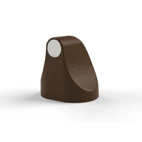 trava porta magnético cor marrom escuro comfort door com imã e adesivo evita batida protetor de maçaneta e parede