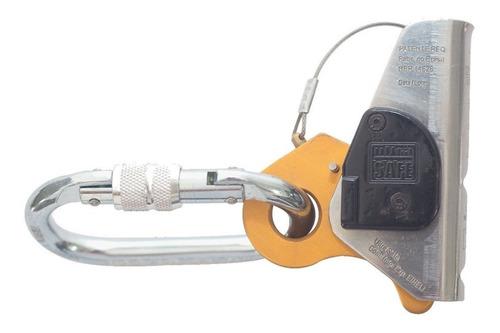 trava quedas block com absorvedor para cordas 11 ou 12mm com mosquetao - ultrasafe