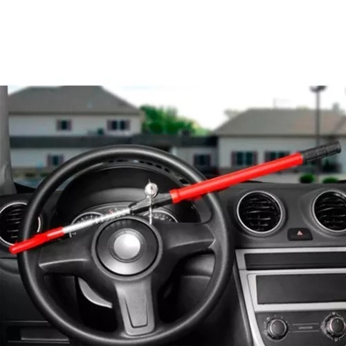 trava segurança antifurto volante 2 chaves tetra universal