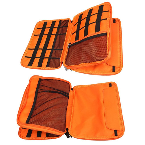 travel cable organizer bag, bubm space saving electronics