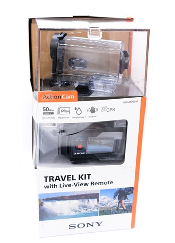 travel kit sony action caixa estanque suportes controle