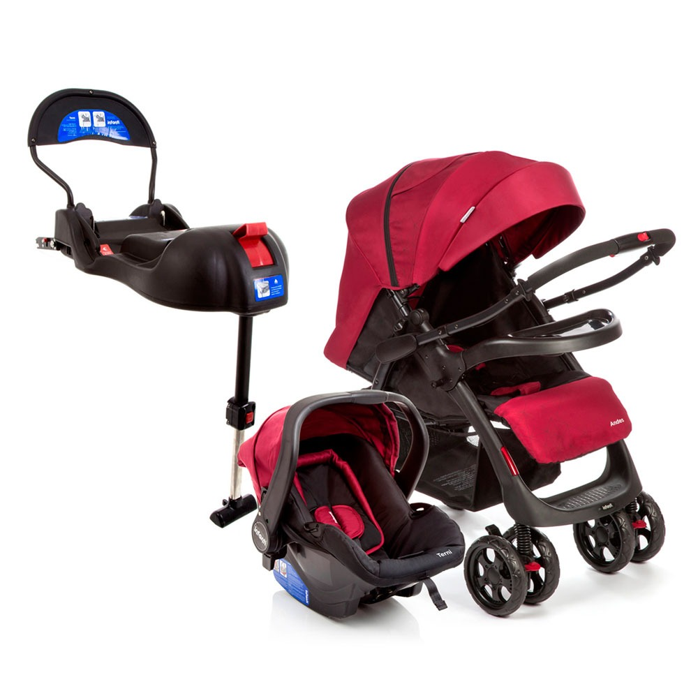 aba23eed4 Travel System - Andes Duo - Cherry E Base Para Bebê Confort - R ...