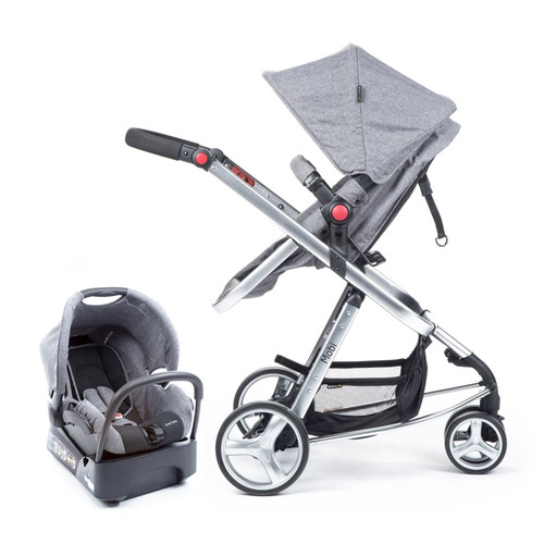 travel system - mobi grey denim - silver - safety 1st