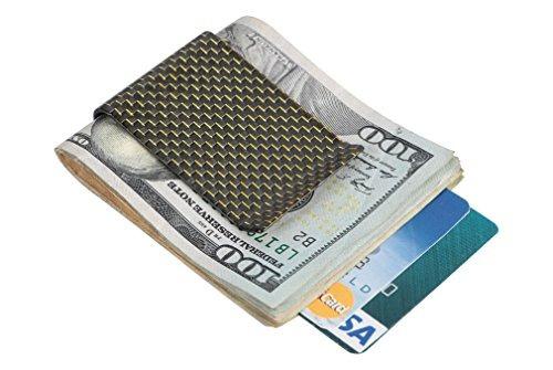 travelambo carbono fibra money clip cartera de bolsillo dela