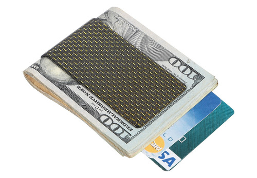 travelambo carbono fibra money clip cartera de bolsillo dela