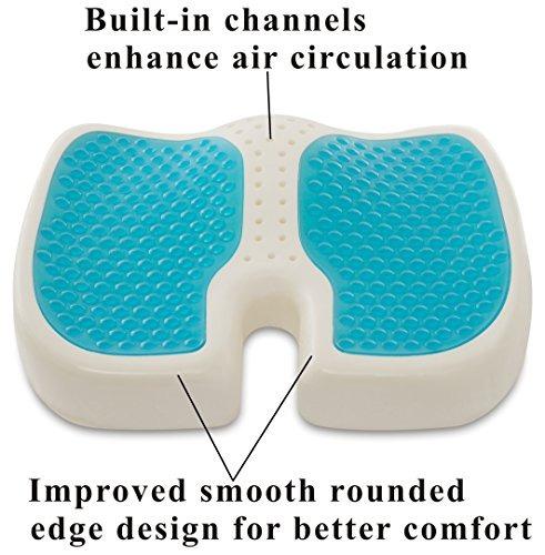 travelmate coccyx orthopedic gel-enhanced (medium-firm) con