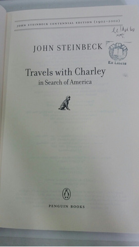 travels with charley in search of america. john steinbeck