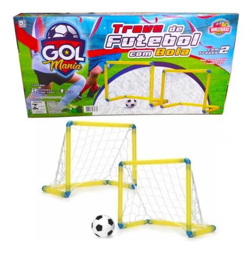 traves de chute a gol caixa c/ 2 traves, 2 redes e bola