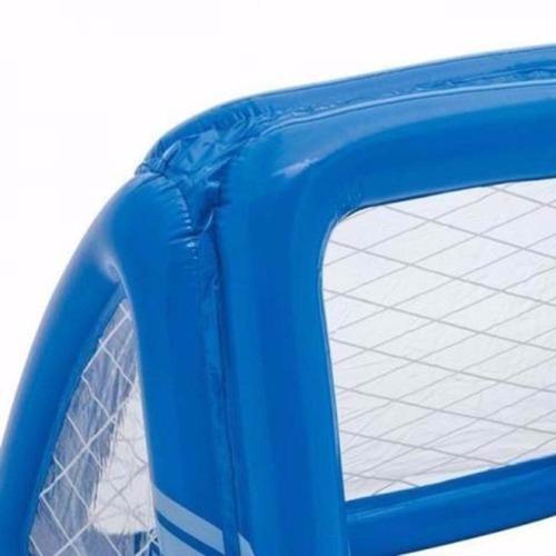 traves de gol inflável polo  2 em 1 com bola aquatico intex