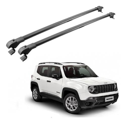 travessa bagageiro rack jeep renegade 2015 a 2019 preto slim