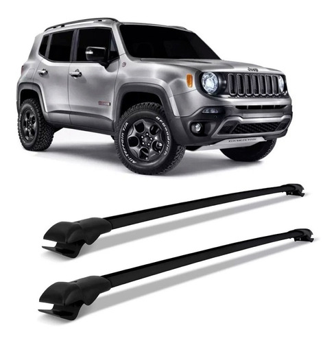 travessa rack bagageiro jeep renegade 2015 a 2020 preto slim