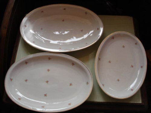 travessas de porcelana checoslovakia